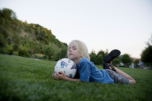 Eli with soccer ball